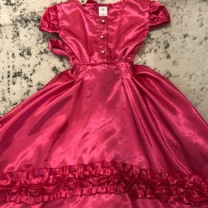 NWT Boutique Dew Drops Couture Pink Holiday Dress